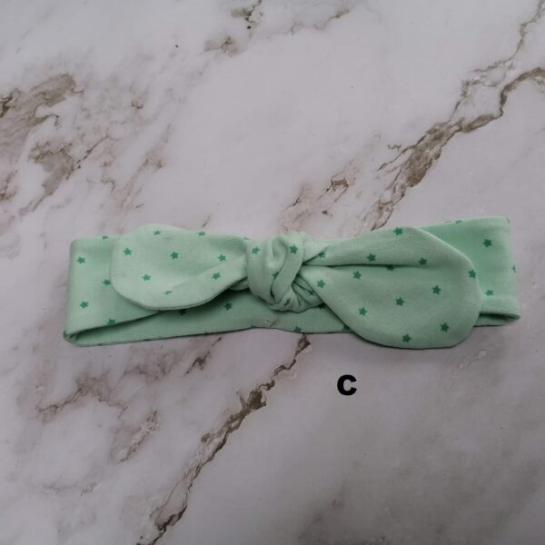 Baby haarband tricot groen ster