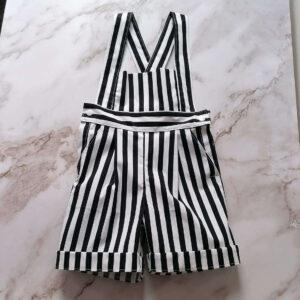 Baby Tuinbroek Streep Zwart Wit