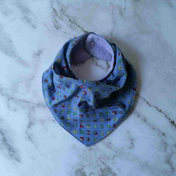 Baby bandana slab blauw