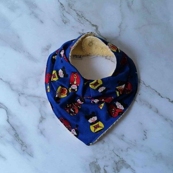 Baby bandana slab popjes blauw