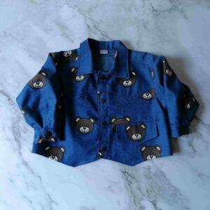 Baby jas spijker beer blauw