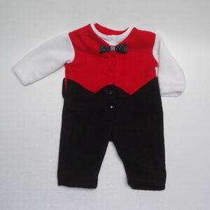 Baby Hansop Fleece Zwart Rood Wit