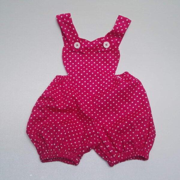 Baby Pofbroekje Stip Roze Wit