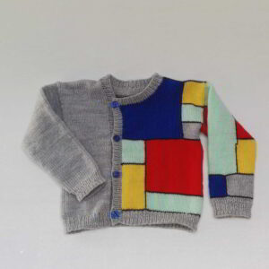 Baby vest Gebreid Mondriaan