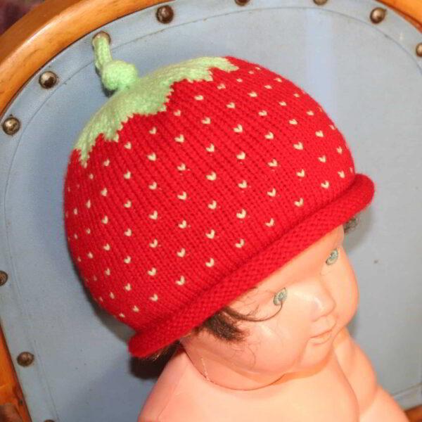 Baby Muts Aardbei Gebreid Rood