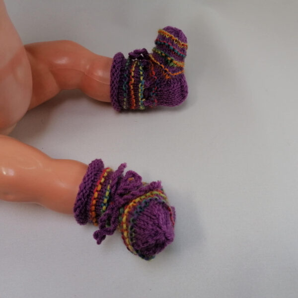 Baby Slofjes ribbel paars1