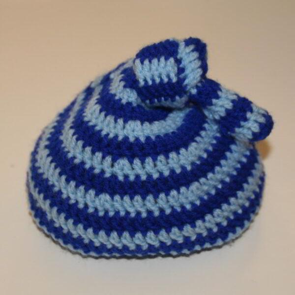 Baby Muts Streep Knoop Blauw