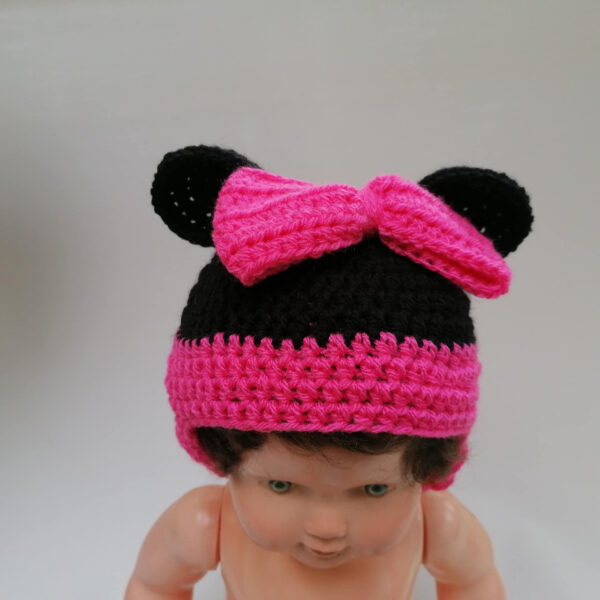 Baby muts gehaakt Minney Mouse