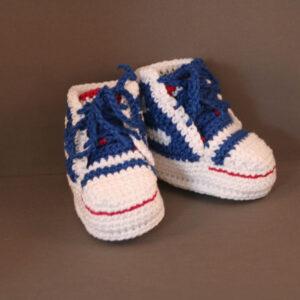 Baby schoen Gympie wit blauw