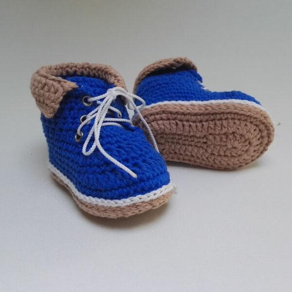 baby schoen ergschoen gehaakt blauw