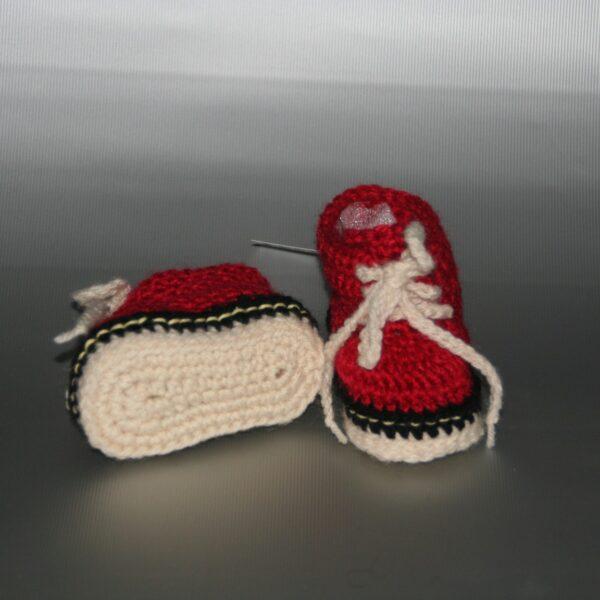 Baby schoen gympie rood wit zwart 1
