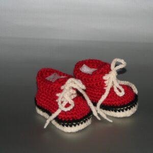 Baby schoen gympie rood wit zwart