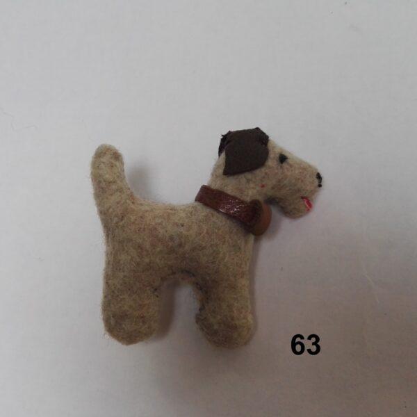 Broche Vilt hondje schnauzer Dolly