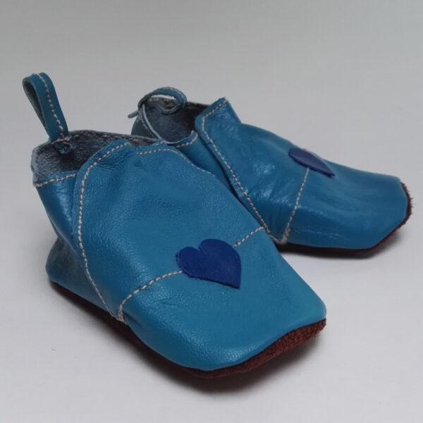 Leren baby schoentje blauw