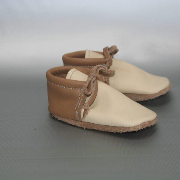 leren baby schoentje bruin
