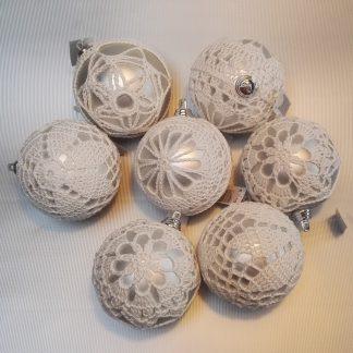 Kerstballen gehaakt
