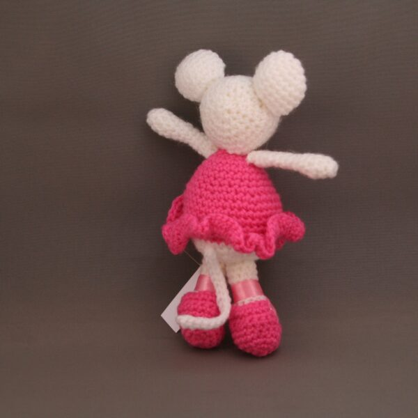 Baby Knuffel Muis Ballerina Achter Roze