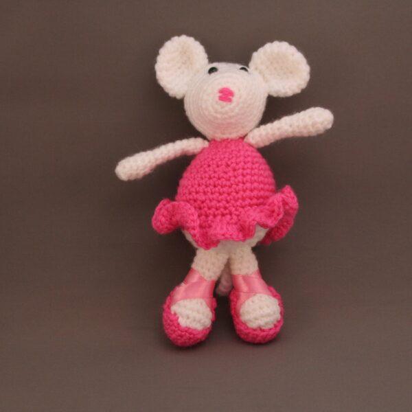 Baby Knuffel Muis Ballerina voor Roze