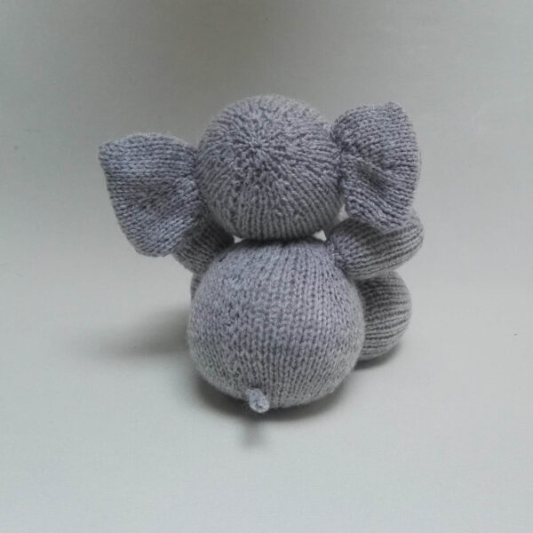 Baby Knuffel Olifant achter