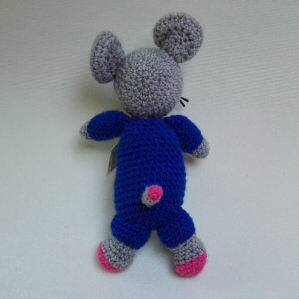 Baby Knuffel Muis Achter