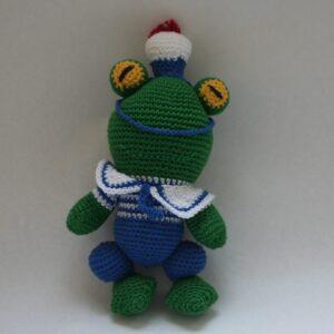 Baby Knuffel Gehaakt Kikker Groen