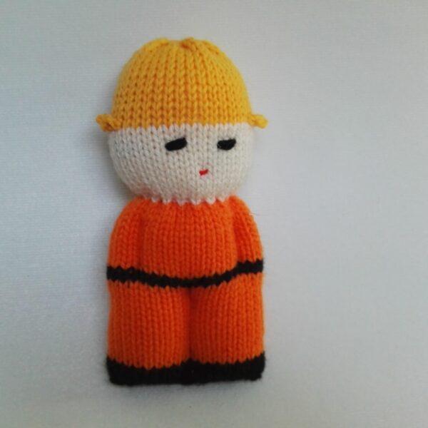 Baby Knuffel Klein Mannetje Oranje