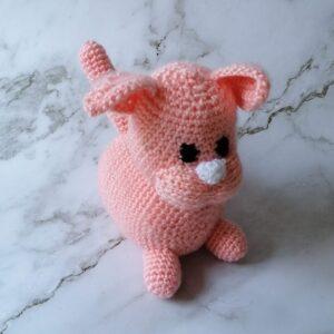 Baby knuffel gehaakt poes roze