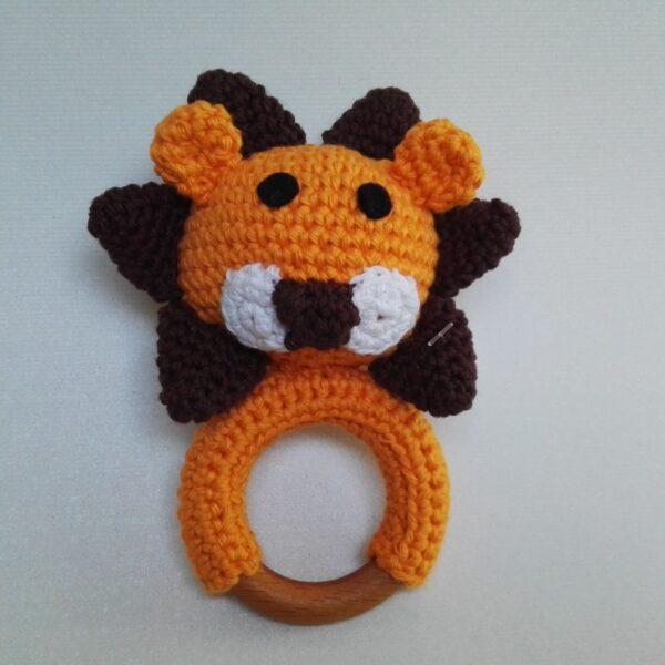 Baby Bijtring Rammelaar Leeuw Voor
