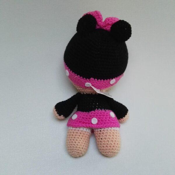 Baby Knuffel Gehaakt Minnie Achter