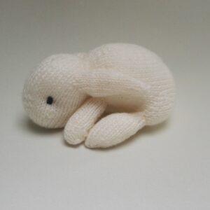 Baby Knuffel gebreid Konijn Wit