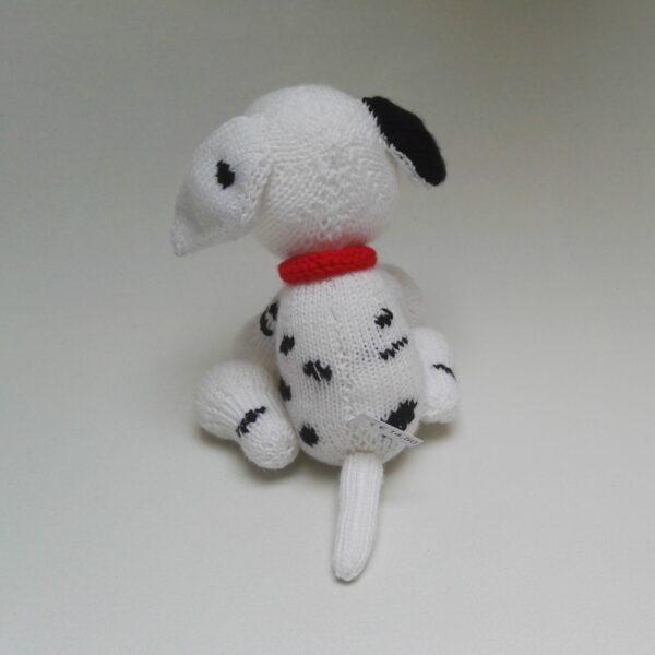 Baby Knuffel Gebreid Dalmatiër Achter