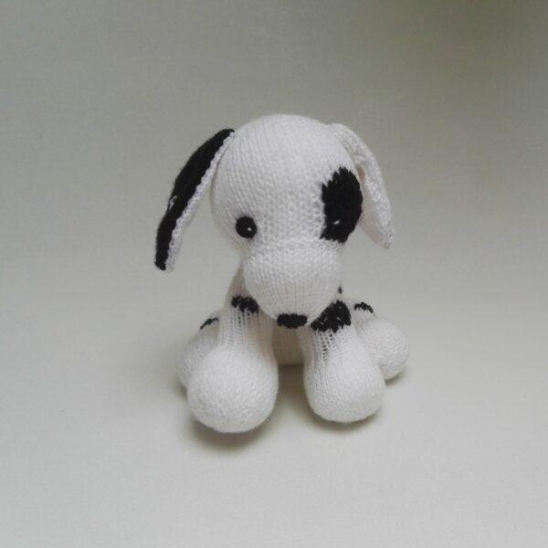Baby Knuffel Gebreid Dalmatiër Voor