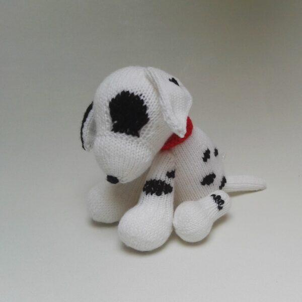 Baby Knuffel Gebreid Dalmatiër Zij