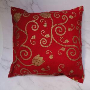 Kussenhoes rood goud