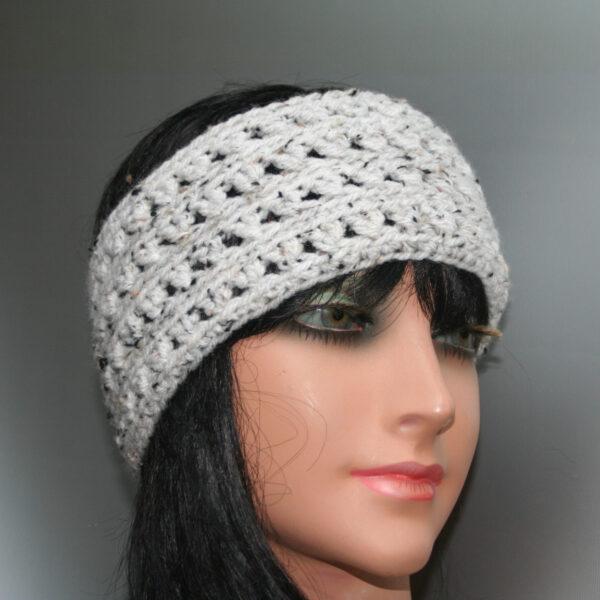 gehaakte hoofdband ecru