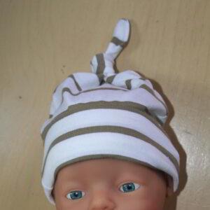 Baby Muts Tricot knoop streep Ecru