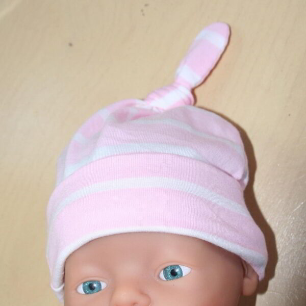 Baby Muts Tricot knoop streep Roze
