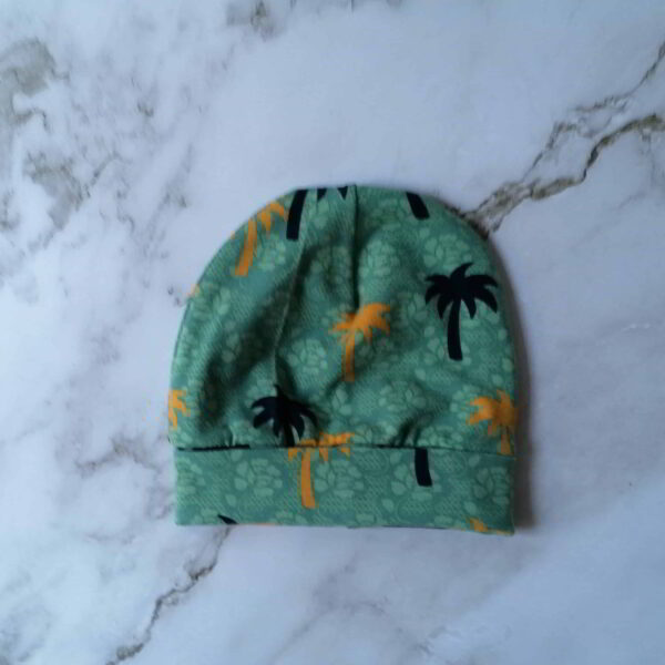 Baby muts tricot palm groen