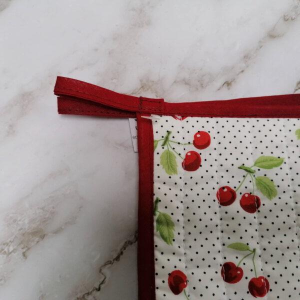 Pannenlap kersen rood detail