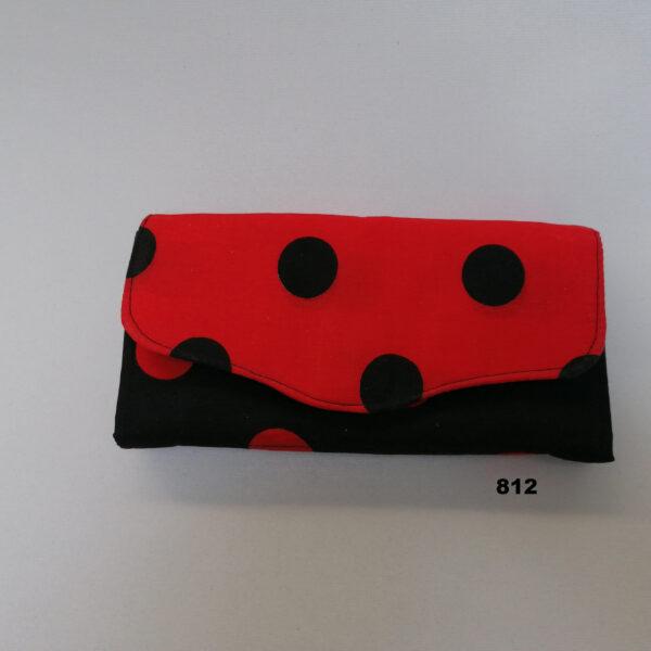 Portefeuille NCW stip rood zwart