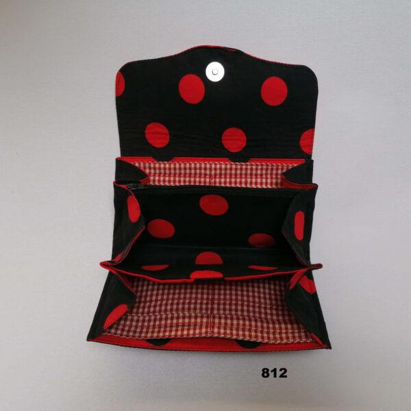 Portefeuille NCW stip rood zwart open
