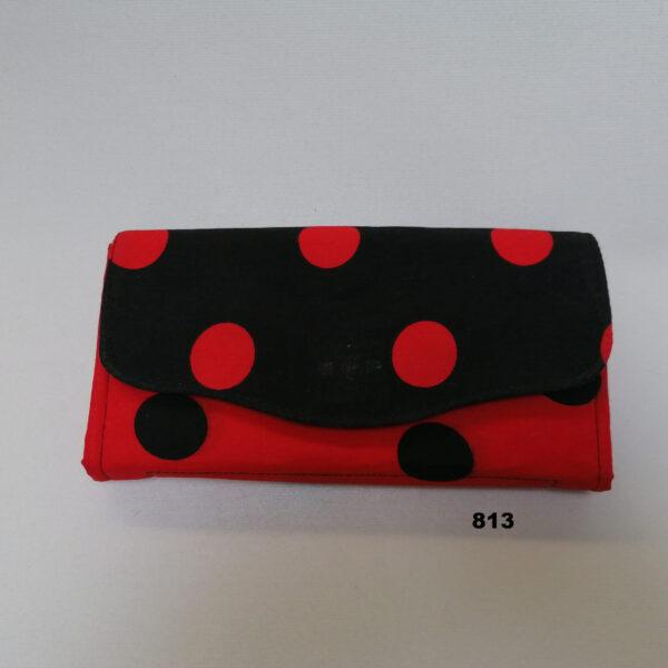 Portefeuille NCW stip zwart rood