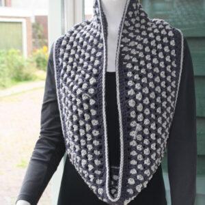 Sjaal Cowl gehaakt grijs