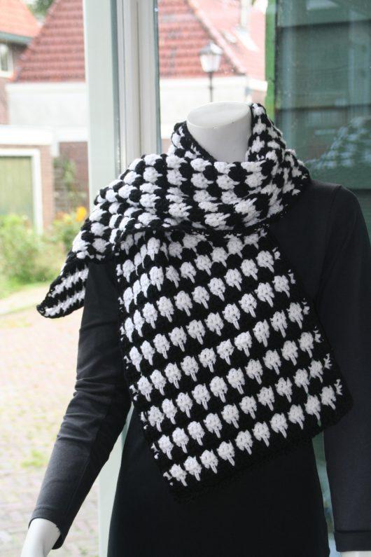 sjaal pied-de-poule