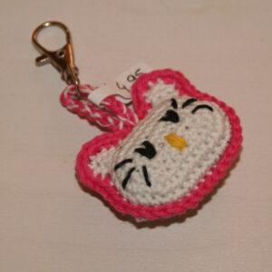 Sleutelhanger Hello Kitty gehaakt