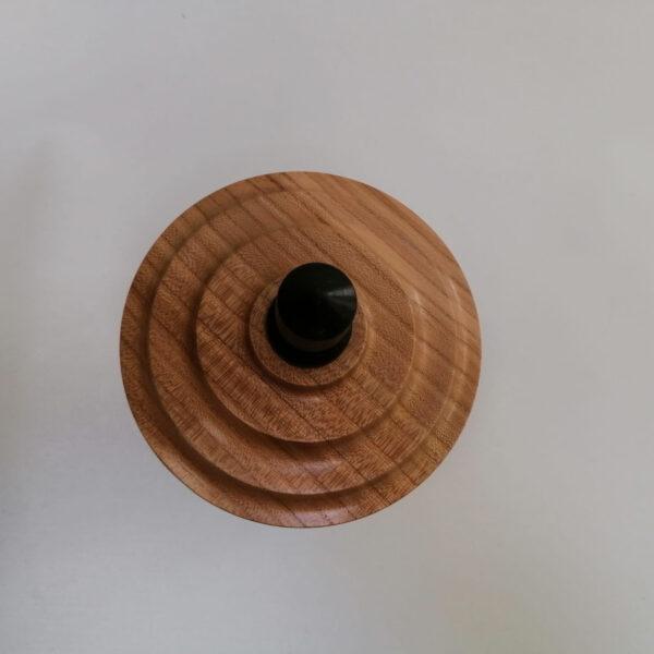 Pot deksel hout gedraaid iepen wengé deksel