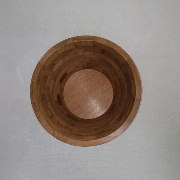 Schaal hout eiken boven