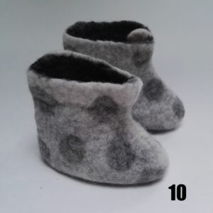 baby vilt laarsje grijs stip grijs dolly