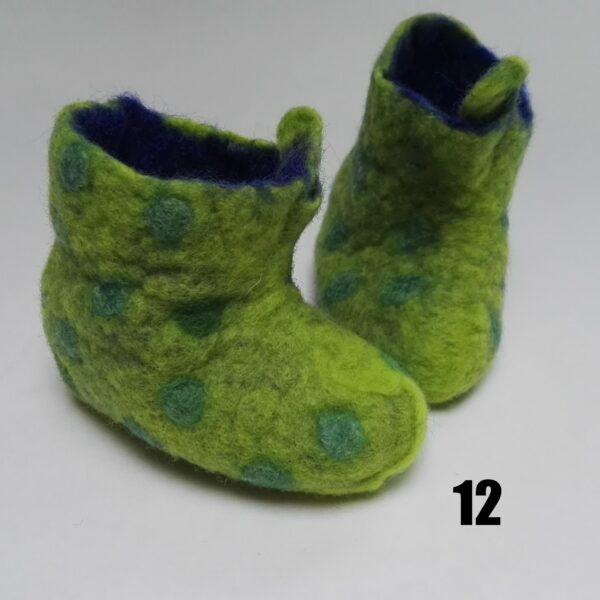 baby vilt laarsje groen stip groen dolly