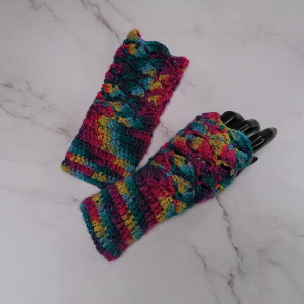 Handschoen gehaakt meer kleuren